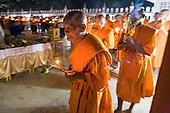 Makha Bucha Day in Kanchanaburi, Thailand