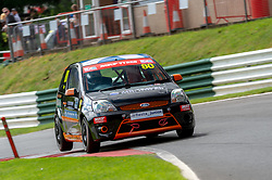 Jake Triggs in action while competing in the BRSCC Fiesta Junior Championship. Picture taken at Cadwell Park on August 1 & 2, 2020 by BRSCC photographer Jonathan Elsey