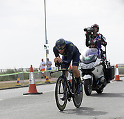 Thursday 7th September 2017: Movistar rider, Alex Dowsett, was 10th placed on  Stage 5 of the 2017 edition of the Tour of Britain cycle race. The stage was an ITT around the Tendring district.
