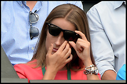 Image ©Licensed to i-Images Picture Agency. 02/07/2014. London, United Kingdom. Andy Murray's girlfriend Kim Sears, 26, watches  Murray loses the Men's  Quarter Finals on centre court in the Royal box at  Wimbledon. Picture by Andrew Parsons / i-Images