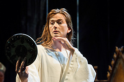 © Licensed to London News Pictures. 16/10/2013. EMBARGOED until 19.00 hrs 17/10/2013. The Royal Shakespeare Company presents Richard II, starring David Tennant as Richard.  Richard II is the first production in a new cycle of Shakespeare's History plays, directed by RSC Artistic Director Gregory Doran, to be performed over the coming seasons. Picture features David Tennant as Richard. Photo credit: Tony Nandi/LNP.