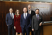 SHOT 1/8/19 12:10:34 PM - Bachus & Schanker LLC lawyers James Olsen, Maaren Johnson, J. Kyle Bachus, Darin Schanker and Andrew Quisenberry in their downtown Denver, Co. offices. The law firm specializes in car accidents, personal injury cases, consumer rights, class action suits and much more. (Photo by Marc Piscotty / © 2018)