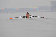 Shunyi, CHINA.  Men's single sculls, semi final A/B,  BLR M1X, Marcell HACKER, at the 2008 Olympic Regatta, Shunyi Rowing Course. Wed 14.08.2008 [Mandatory Credit: Peter SPURRIER, Intersport Images]