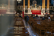 March 18, 2020, London, England, United Kingdom: Worshippers visit Westminster Cathedral in Central London, Britain, 18 March 2020. The British government announced curbs on social gatherings leading to the Catholic Church and Church of England to suspend services, as part of measures to stem the spread of the coronavirus Covid-19 pandemic. (Credit Image: © Vedat Xhymshiti/ZUMA Wire)