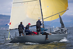 RWYC's Savills Kip Regatta  9-10th May 2015 <br /> Excellent conditions for the opening racing of the Clyde Season<br /> <br /> New to the Clyde, GBR8700R, Phoenix a 1/4 toner owned by Darge/Black/McVey<br /> <br /> Credit : Marc Turner / PFM