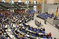 """20 DEC 2002, BERLIN/GERMANY:<br /> SPD, B90/Gruene, CDU und FDP Bundestagsfraktion (von unten nach oben) waehrend der Abstimmung ueber den Antrag der CDU/CSU Fraktion zur Einsetzung eines Untersuchungsausschusses """"Wahlbetrag"""", Plenum, Deutscher Bundestag<br /> IMAGE: 20021220-01-028<br /> KEYWORDS: Sitzung, Uebersicht, Übersicht"""