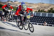 #279 during practice at the 2018 UCI BMX World Championships in Baku, Azerbaijan.