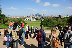 © Licensed to London News Pictures.17/05/2018<br /> Greenwich, UK.<br /> Blue sky and sunny weather,  Greenwich Park, Greenwich.<br /> Photo credit:Grant Falvey/LNP
