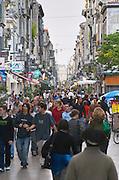Rue Sainte Catherine. Bordeaux city, Aquitaine, Gironde, France