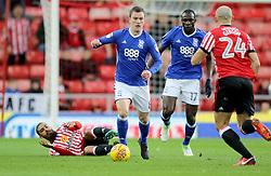Birmingham City's Craig Gardner leaves Sunderland's James Vaughan