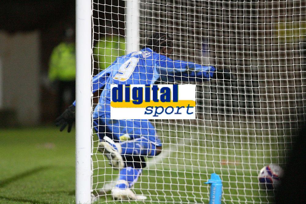 Photo: Pete Lorence/Sportsbeat Images.<br />Peterborough United v Milton Keynes Dons. Coca Cola League 2. 15/12/2007.<br />Aaron McLean scores Peterborough's first goal of the match.