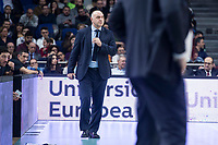 Real Madrid coach Pablo Laso during Turkish Airlines Euroleague match between Real Madrid and Anadolu Efes at Wizink Center in Madrid, Spain. January 25, 2018. (ALTERPHOTOS/Borja B.Hojas)