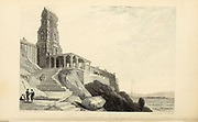 Hindoo [Hindu] Temple At Tritchengur [Tiruchendur is a panchayat town located in the southern tip of India, in the Thoothukudi district of Tamil Nadu. It is home to Thiruchendur Murugan Temple, also known as Arulmigu Subramaniaswamy Temple which is a Second of Arupadai veedugal (Abodes of Murugan) and one of the ancient Hindu temples dedicated to Lord Murugan] From the book ' The Oriental annual, or, Scenes in India ' by the Rev. Hobart Caunter Published by Edward Bull, London 1836 engravings from drawings by William Daniell