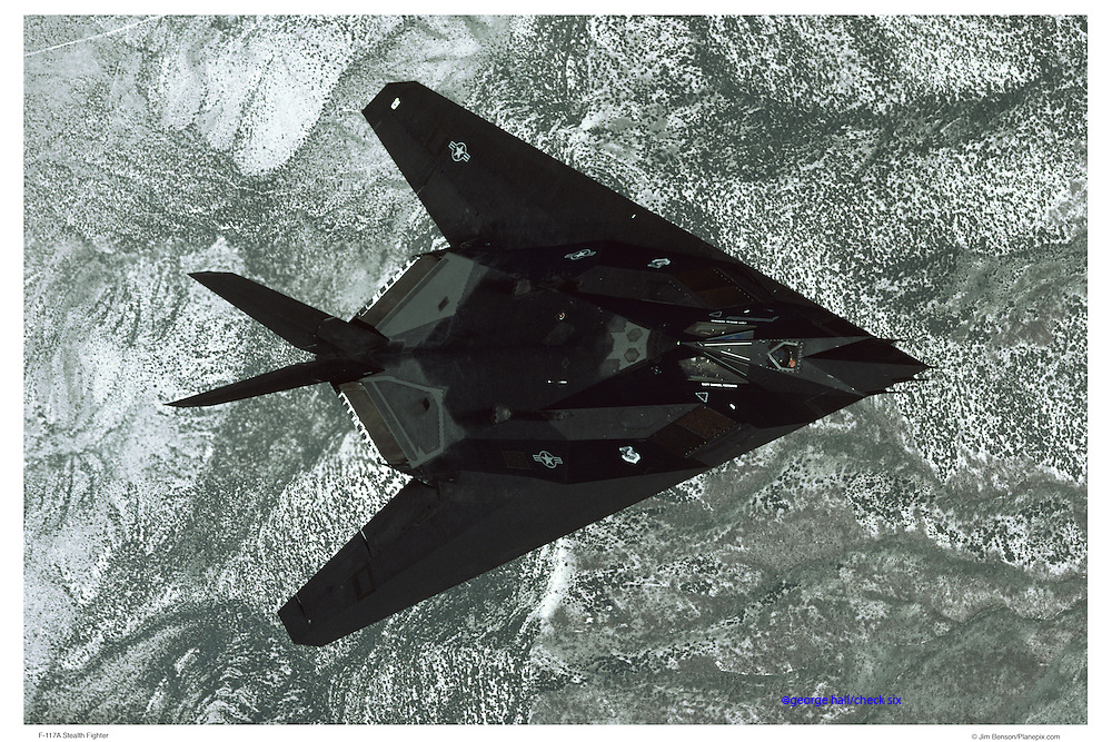 F-117A Stealth fighter jet, aerial