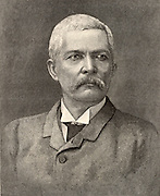 Henry Morton Stanley (1840-1904) born John Rowlands at Denbigh, Wales, Welsh-born American journalist and explorer. Engraving after a photograph taken at Cairo in 1890.