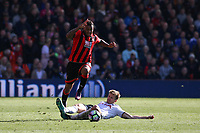 Football - 2016 / 2017 Premier League - AFC Bournemouth vs. Tottenham Hotspur<br /> <br /> Bournemouth's Joshua King hurdles the challenge from Eric Dier of Tottenham Hotspur at Dean Court (The Vitality Stadium) Bournemouth<br /> <br /> COLORSPORT/SHAUN BOGGUST