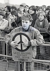 CND demo London October 1985