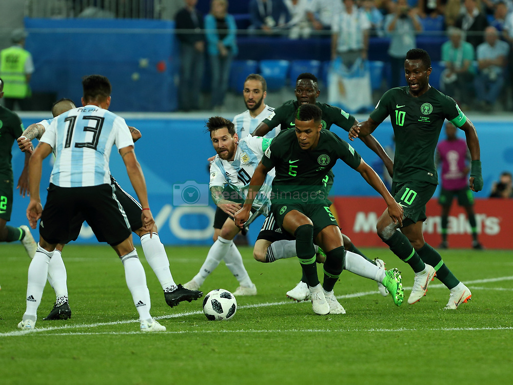 June 26, 2018 - St. Petersburg, Russia - June 26, 2018, Russia, St. Petersburg, FIFA World Cup 2018, First round, Group D, Third round. Football match of Nigeria - Argentina at the stadium of St. Petersburg. Player of the national team (Credit Image: © Russian Look via ZUMA Wire)