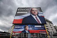 Zdjecie ilustracyjne. Plakaty wyborcze w Bialymstoku przed wyborami samorzadowym 2018 N/z plakaty wyborcze kandydatow PiS fot Michal Kosc / AGENCJA WSCHOD
