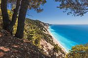 Egremni beach in Lefkada island