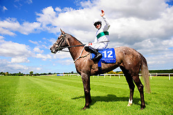 Who's Steph and Colin Keane pose after winning the Derrinstown Stud 1,000 Guineas Trial during Derrinstown Stud Derby Trial Day at Leopardstown Racecourse, Dublin.