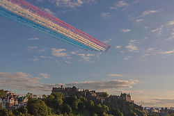 Pictured: <br />The Red Arrows- Edinburgh - 240820<br /><br />Dave Cullen | EEm 240820