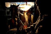 A man and his horse head home from Ballinasloe Horse Fair. Photograph by Eamon Ward