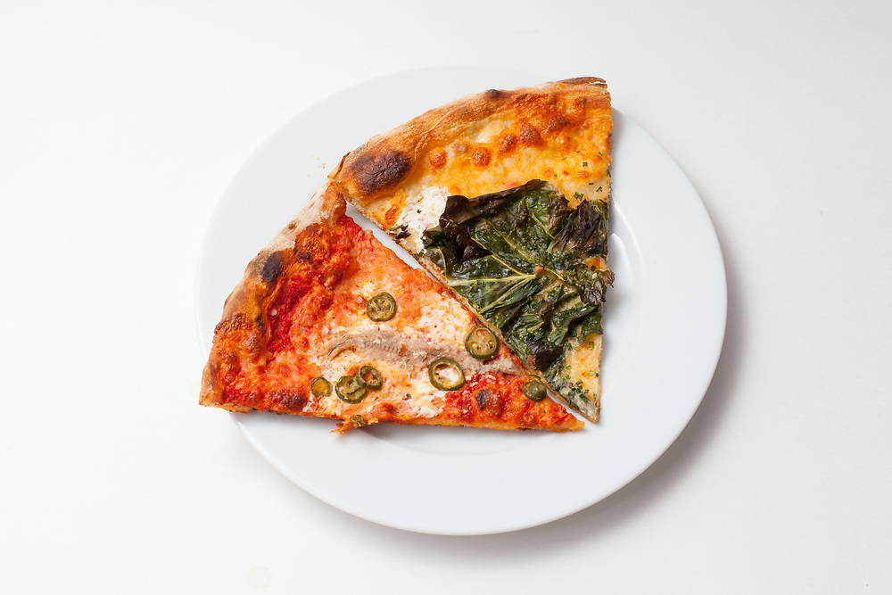 #1 & #2 slices from Pizzera Beddia ($10.00) - Delivery leftovers