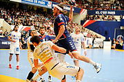 DESCRIZIONE : France Hand D1 Championnat de France D1 a Paris <br /> GIOCATORE : HANSEN Mikkel<br /> SQUADRA : Paris<br /> EVENTO : FRANCE Hand D1<br /> GARA : Paris Montpellier<br /> DATA : 30/09/2012<br /> CATEGORIA : Hand D1 <br /> SPORT : Handball<br /> AUTORE : JF Molliere <br /> Galleria : France Hand 2012-2013 Action