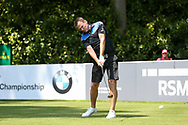 Teddy Sheringham teeing off during the Celebrity Pro-Am day at Wentworth Club, Virginia Water, United Kingdom on 23 May 2018. Picture by Phil Duncan.