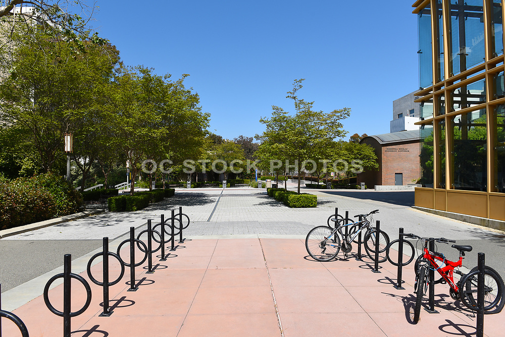 Bike Racks Outside the Engineering Hall on Campus at the University of California Irvine