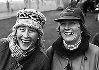 Race Goers enjoying the race at Punchestown Racecourse, Dublin, 03/01/1997 (Part of the Independent Newspapers Ireland/NLI Cillection).