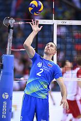Alen Pajenk of Slovenia during the CEV Volleyball European Championship game Poland - Slovenia on August 30, 2017 in Krakow, Poland. (Photo by Krzysztof Porebski / Press Focus)
