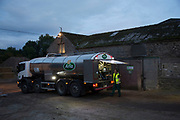 The daily milk collection by Russ Cowton and the Arla collection truck. Arla is a farmer owned international dairy and dairy products cooperative. Home to some of the UK's leading dairy brands, including Cravendale, Anchor, Lurpak and Castello, Arla Foods UK supplies a full range of fresh dairy products to the major retailers and foodservice customers, from its 3000 cooperative farmers across the UK. Wildon Grange Dairy Farm, Coxwold, North Yorkshire, UK. Owned and run by the Banks family, dairy farming here is a scientific business, where nothing is left to chance. From the breeding, nutrition and health of their closed stock of Holstein Friesian cows, through to the end product, the team here work tirelessly, around to clock to ensure content and healthy animals, and excellent quality milk.