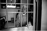 Roma Giugno 2000.Carcere di Rebibbia N.C..Un detenuto anziano...Rome June 2000.Prison Rebibbia N.C..An elderly inmate.