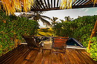 A guest room's porch and plunge pool, Le Reve Hotel, Riviera Maya, Quintana Roo, Mexico
