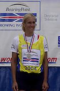 FISA World Cup Rowing Munich Germany.Women's Single CZE Mirka KNAPKOVA. 29/05/2004. Finals day.. [Mandatory Credit: Peter Spurrier: Intersport Images].