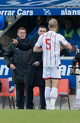 Ross County's manager Jim McIntrye after Jay McEveley scored their first goal. St Johnstone 2 v 4 Ross County. SPFL Ladbrokes Premiership game played 19/11/2016 at St Johnstone's home ground, McDiarmid Park.