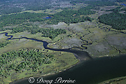 aerial view of Crystal River, Florida, showing manatee habitat, USA, North Americ
