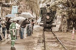 August 15, 2017 - A Locomotiva 58 percorreu um quilômetro na região central, durante comemoração dos 363 anos de Sorocaba, SP.  O trem trafegou pela antiga Estrada de Ferro Elétrica Votorantim (EFEV) até Fábrica Santa Maria.  Patrimônio histórico do município, a locomotiva 58 foi construída em 1891 pela Baldwin Locomotive Works, na Filadélfia, Estados Unidos, para a Estrada de Ferro Sorocabana (EFS), tendo prestado serviços à ferrovia até a década de 1960. (Credit Image: © Cadu Rolim/Fotoarena via ZUMA Press)