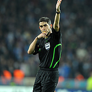 Referee's Alberto Undiano MALLENCO during their UEFA Champions League group stage matchday 4 soccer match Trabzonspor between CSKA Moskva at the Avni Aker Stadium at Trabzon Turkey on Wednesday, 02 November 2011. Photo by TURKPIX