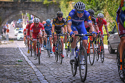 July 28, 2018 - Les Bons Villers, BELGIUM - French Remi Cavagna of Quick-Step Floors pictured during the first stage of the Tour De Wallonie cycling race, 193,4 km from La Louviere to Les Bons Villers, on Saturday 28 July 2018. BELGA PHOTO LUC CLAESSEN (Credit Image: © Luc Claessen/Belga via ZUMA Press)