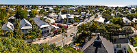 US, Florida, Key West. View from top of the Key West Lighthouse. Stitched panorama.