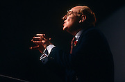 Leader of the Labour party, Neil Kinnock makes a passionate speech during a Labour Party rally on 28th February 1992 in Swansea, Wales. Neil Gordon Kinnock, Baron Kinnock PC (b1942) is a British Labour Party politician. He served as a Member of Parliament from 1970 until 1995, first for Bedwellty and then for Islwyn. He was the Leader of the Labour Party and Leader of the Opposition from 1983 until 1992, making him the longest-serving Leader of the Opposition in British political history.