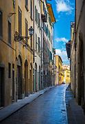 Street scene in central Florence (Italian: Firenze) in Italy's Tuscany region
