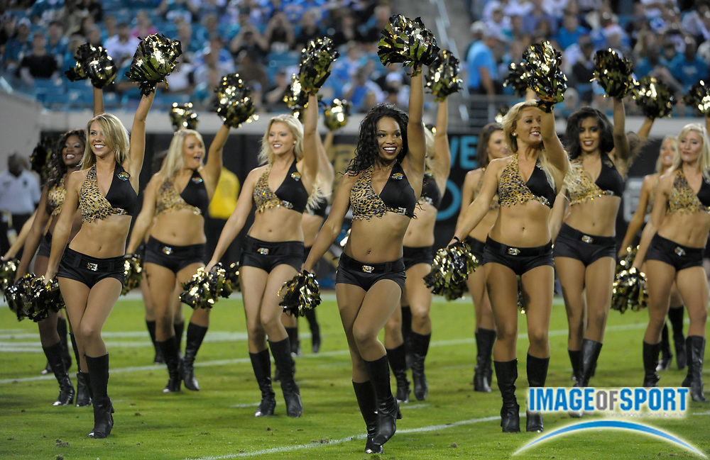 Dec 5, 2011; Jacksonville, FL, USA; Jacksonville Jaguars roar cheerleaders perform during the game against the San Diego Chargers at EverBank Field.