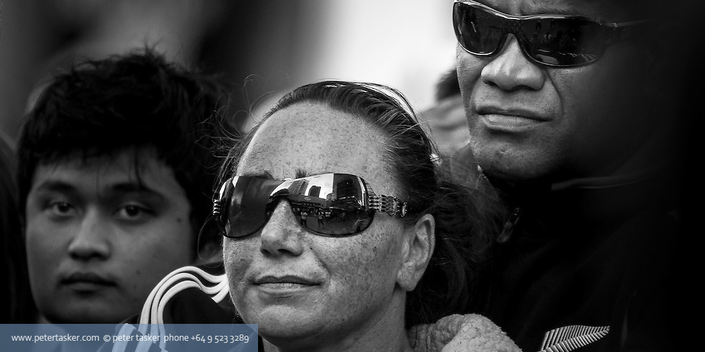 Street portrait of spectator. Rugby world cup 2011. Auckland, New Zealand.