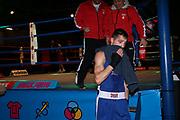 Boxen: Elite, Deutsche Meisterschaften, Finale, Lübeck, 09.12.2017<br /> Halbweltergewicht: Edison Zani (Hamburg, blau) - Wladsilaw Baryshnik (Baden Würtemberg)<br /> © Torsten Helmke