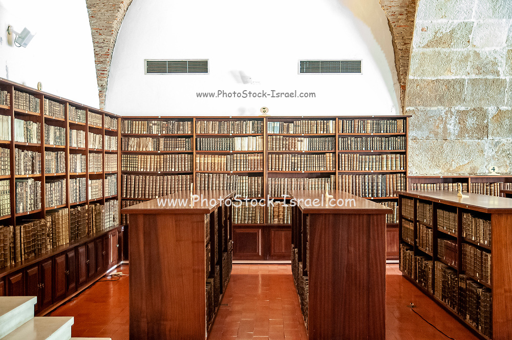 Old books on the shelves of the Joanina Library (Biblioteca Joanina) in Coimbra University, Coimbra, Portugal