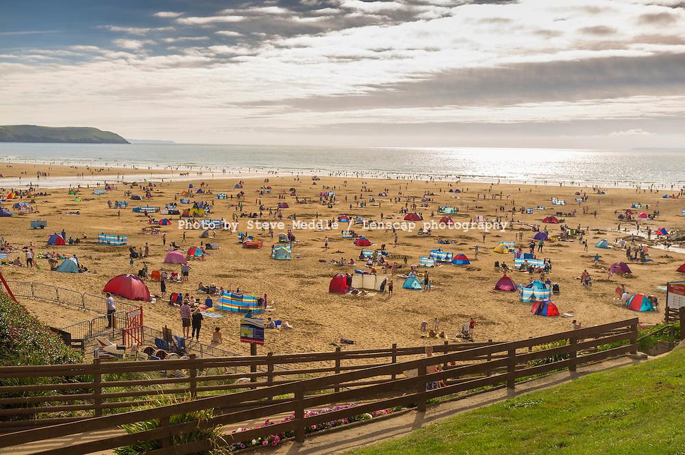 Woolacombe beach, North Devon, Britain - Aug 2011